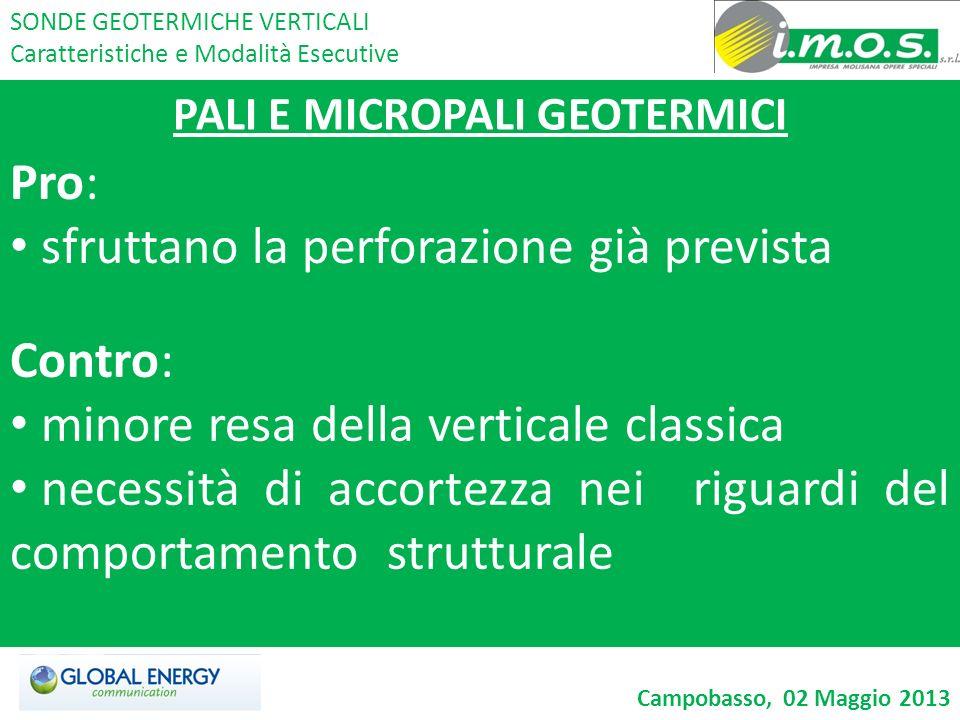PALI E MICROPALI GEOTERMICI