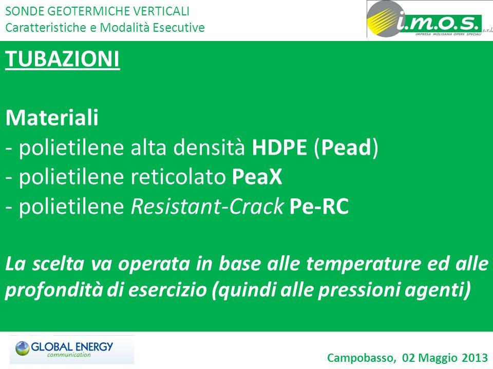 polietilene alta densità HDPE (Pead) polietilene reticolato PeaX