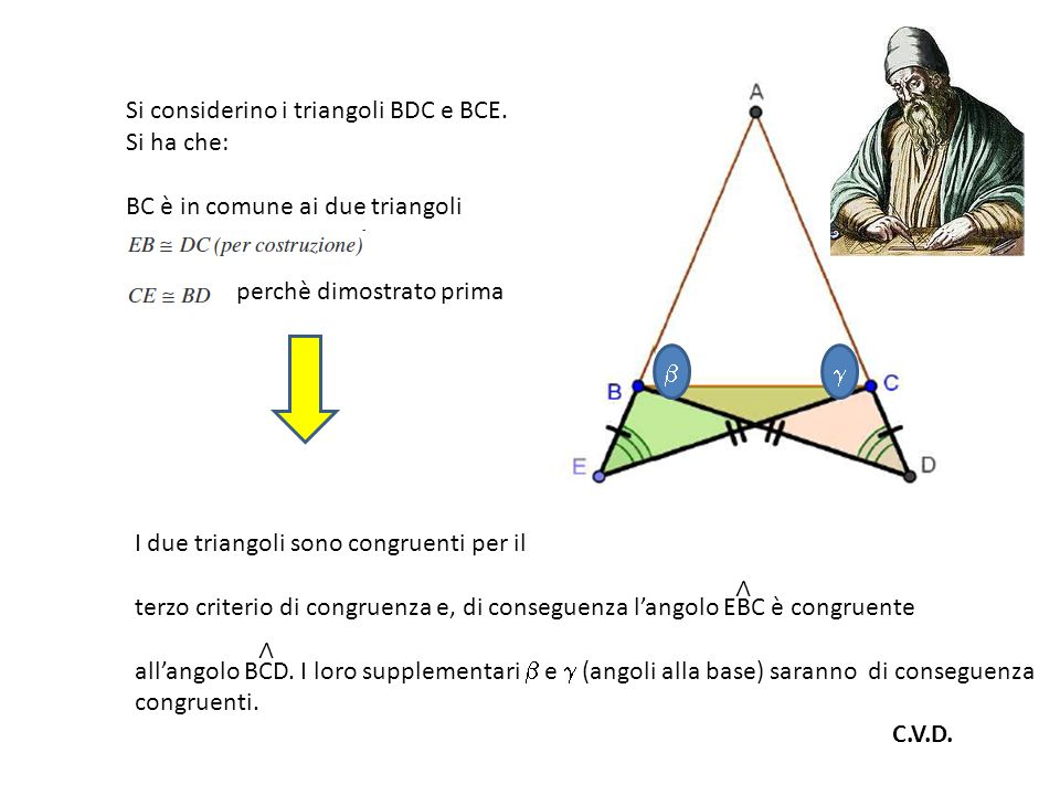 Si considerino i triangoli BDC e BCE.