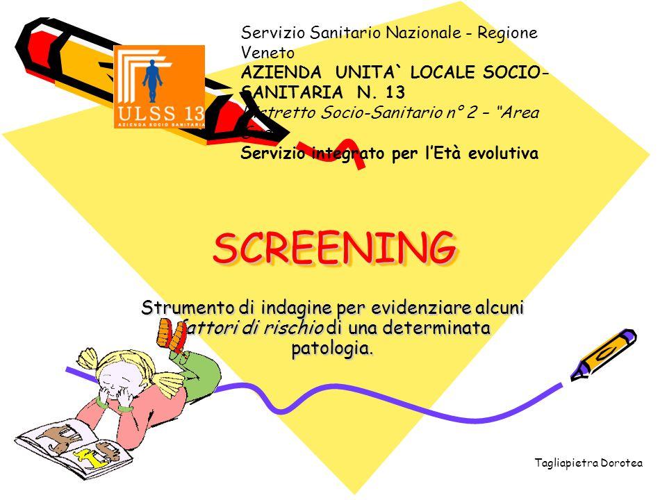 Servizio Sanitario Nazionale - Regione Veneto