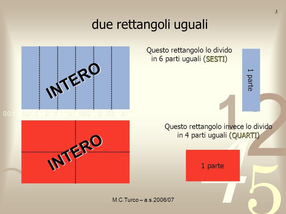 INTERO INTERO due rettangoli uguali