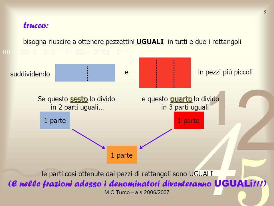 (E nelle frazioni adesso i denominatori diventeranno UGUALi!!!)