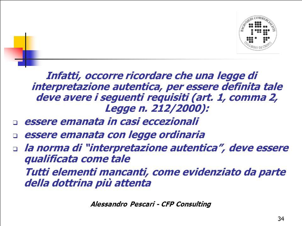Alessandro Pescari - CFP Consulting