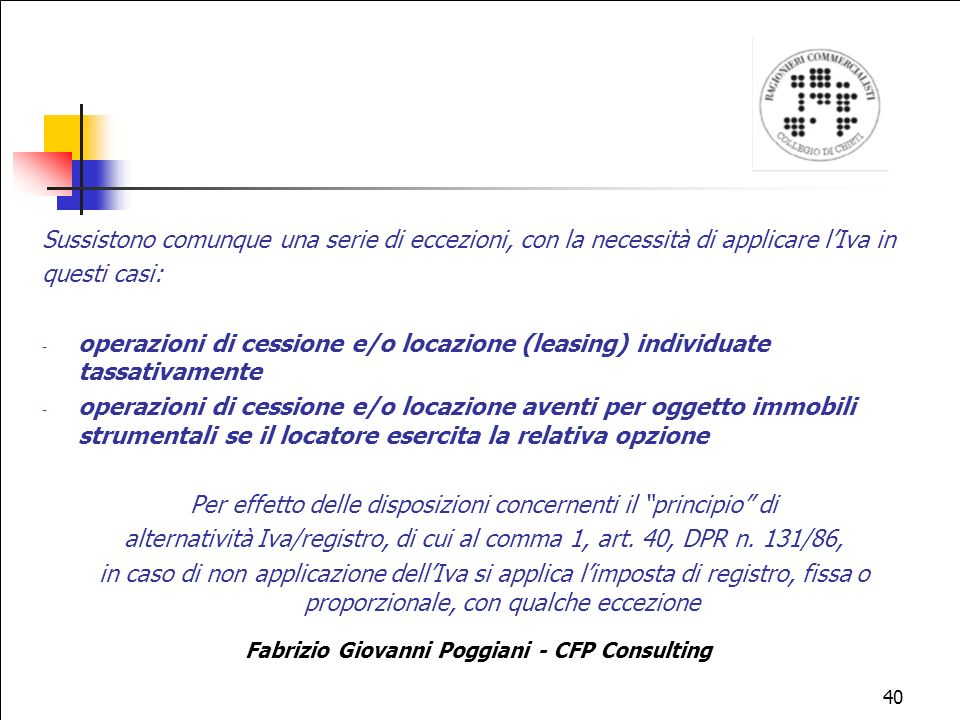 Fabrizio Giovanni Poggiani - CFP Consulting
