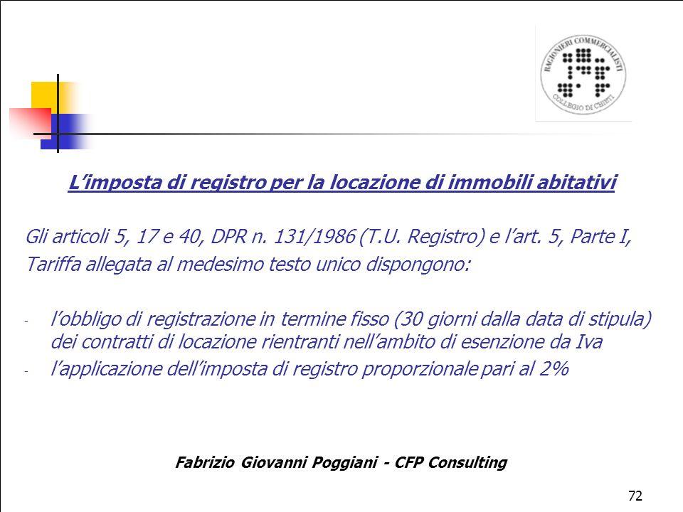 L'imposta di registro per la locazione di immobili abitativi