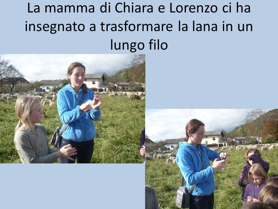 La mamma di Chiara e Lorenzo ci ha insegnato a trasformare la lana in un lungo filo