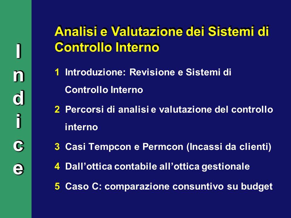 Indice Analisi e Valutazione dei Sistemi di Controllo Interno