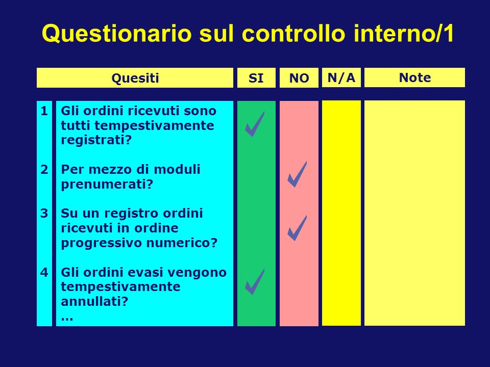 Questionario sul controllo interno/1