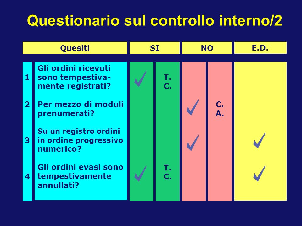Questionario sul controllo interno/2