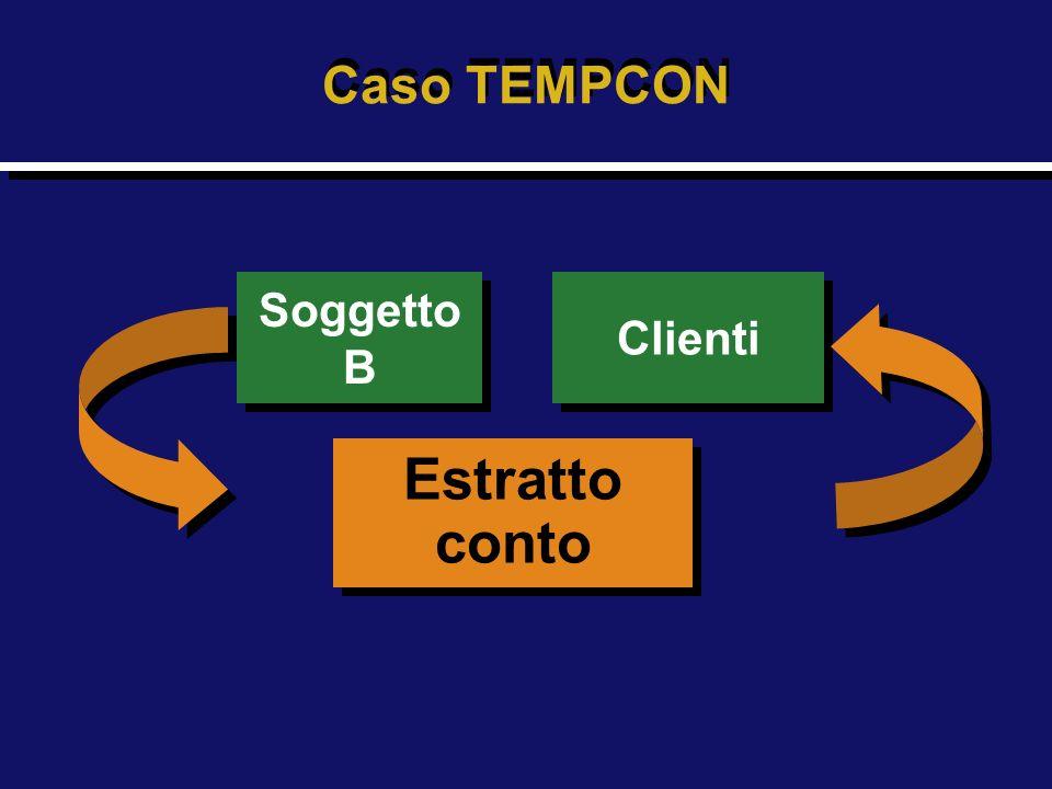 Caso TEMPCON Soggetto B Clienti Estratto conto