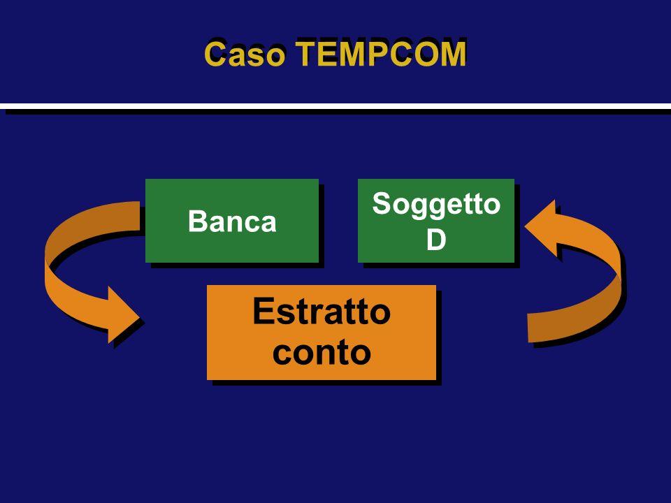 Caso TEMPCOM Banca Soggetto D Estratto conto