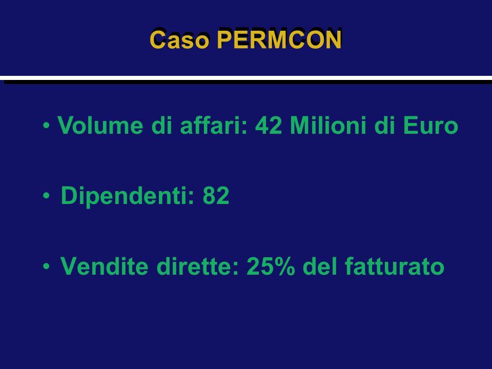 Caso PERMCON Volume di affari: 42 Milioni di Euro Dipendenti: 82 Vendite dirette: 25% del fatturato