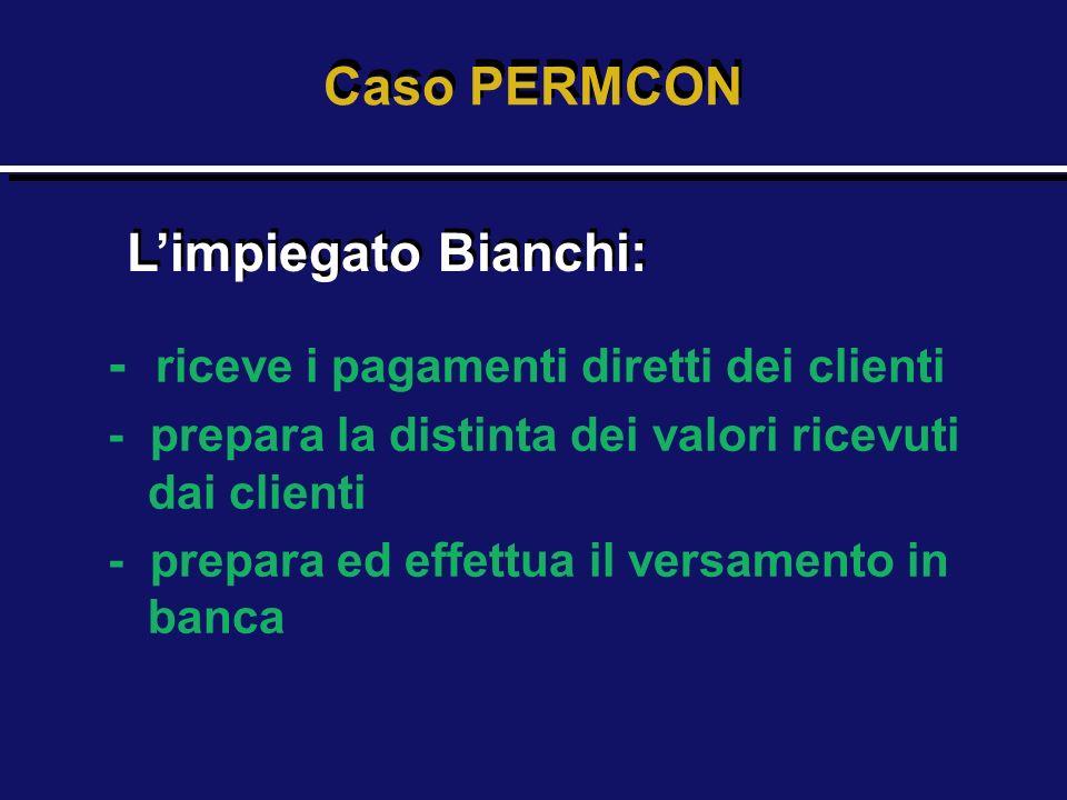 - riceve i pagamenti diretti dei clienti