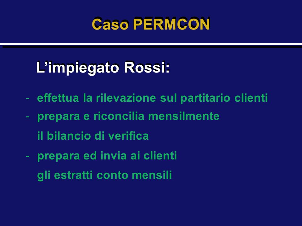 Caso PERMCON L'impiegato Rossi: