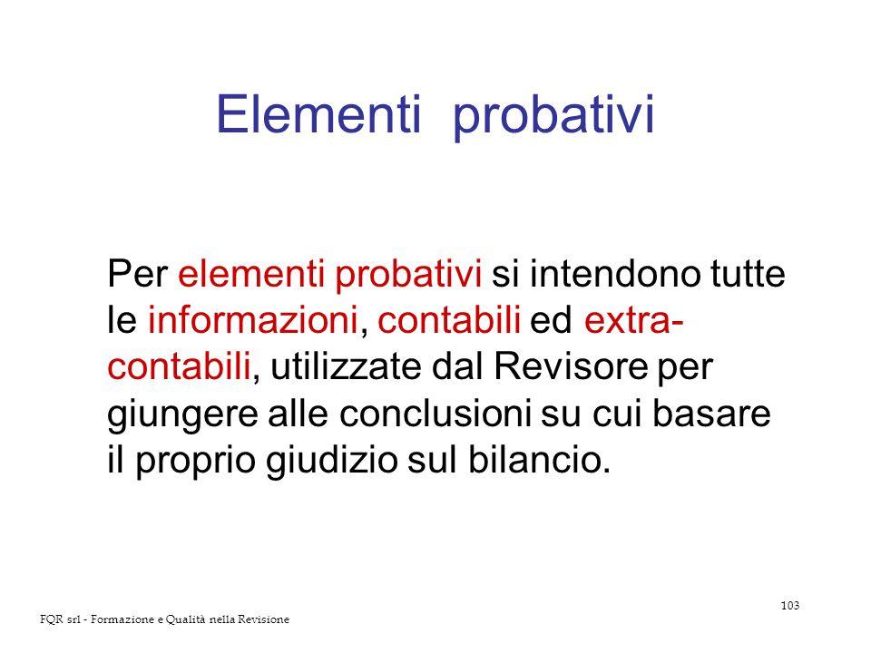 Elementi probativi