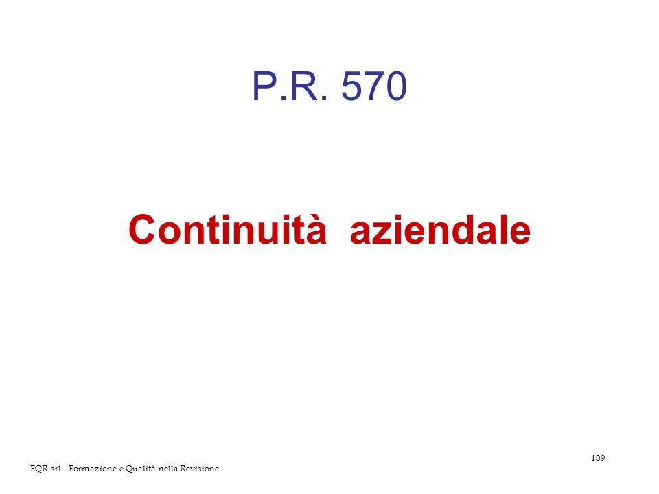 P.R. 570 Continuità aziendale