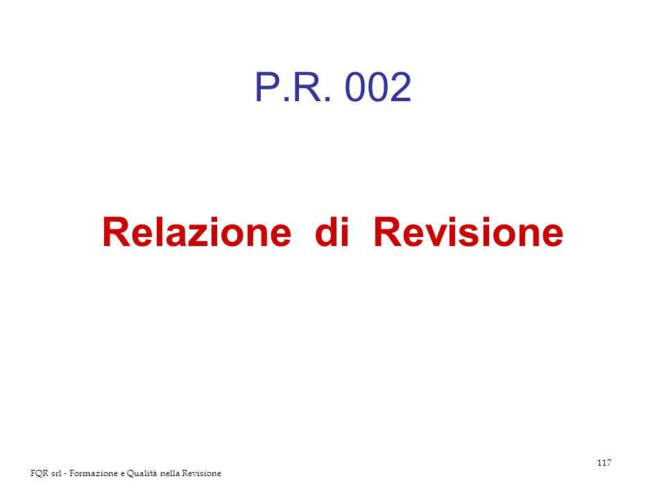 Relazione di Revisione