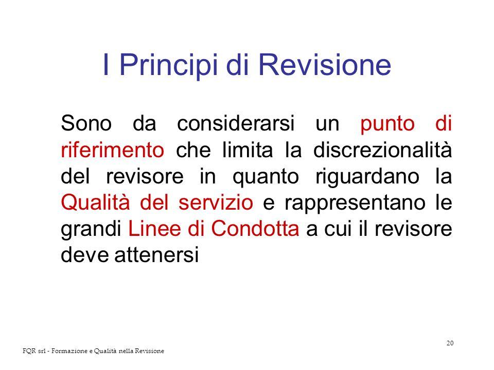 I Principi di Revisione