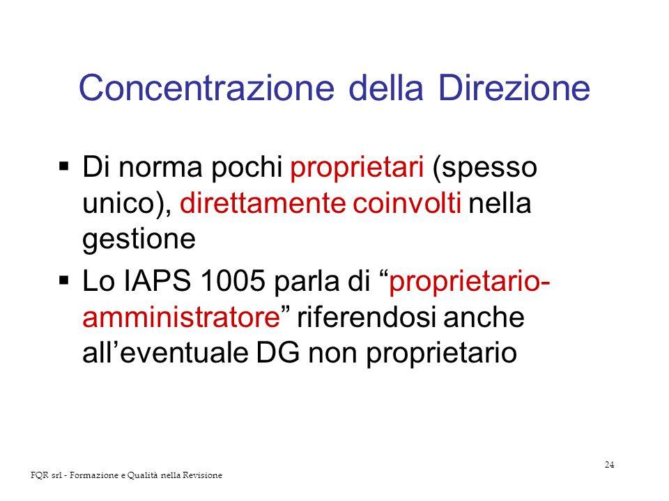 Concentrazione della Direzione