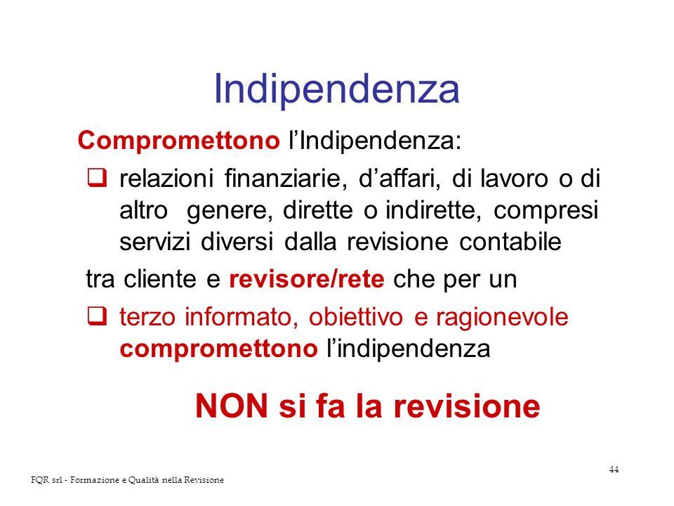 Indipendenza Compromettono l'Indipendenza:
