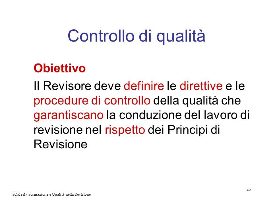 Controllo di qualità Obiettivo