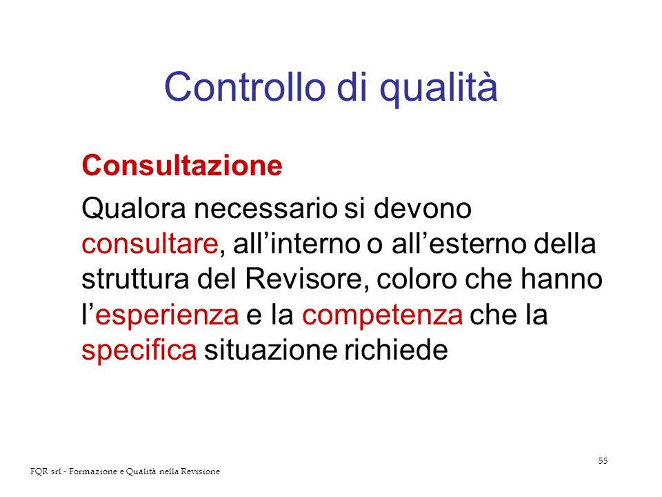 Controllo di qualità Consultazione