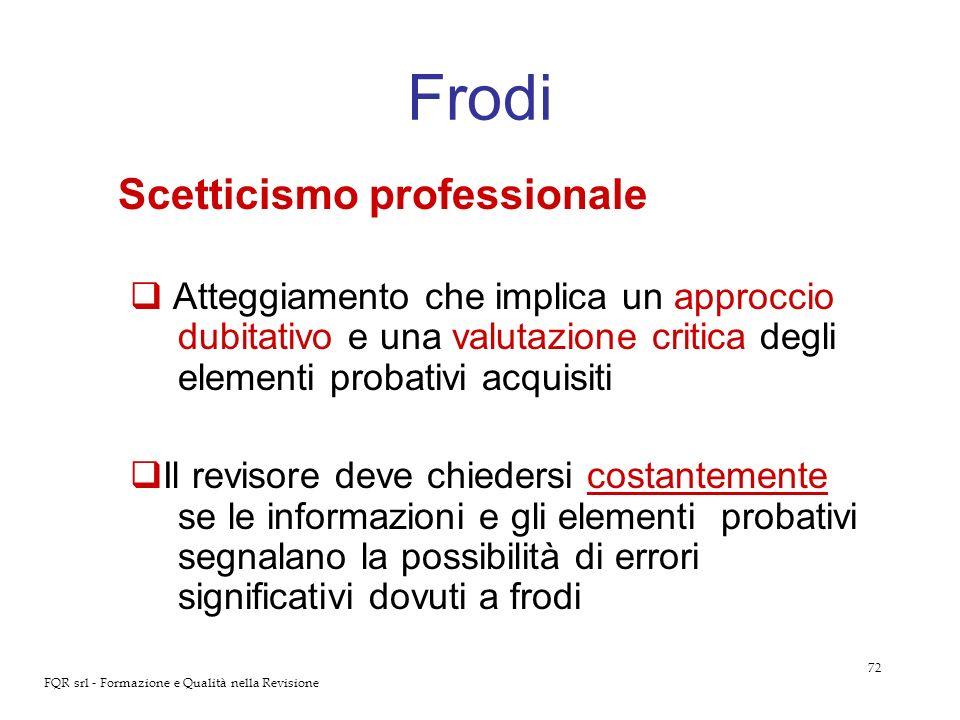 Frodi Scetticismo professionale