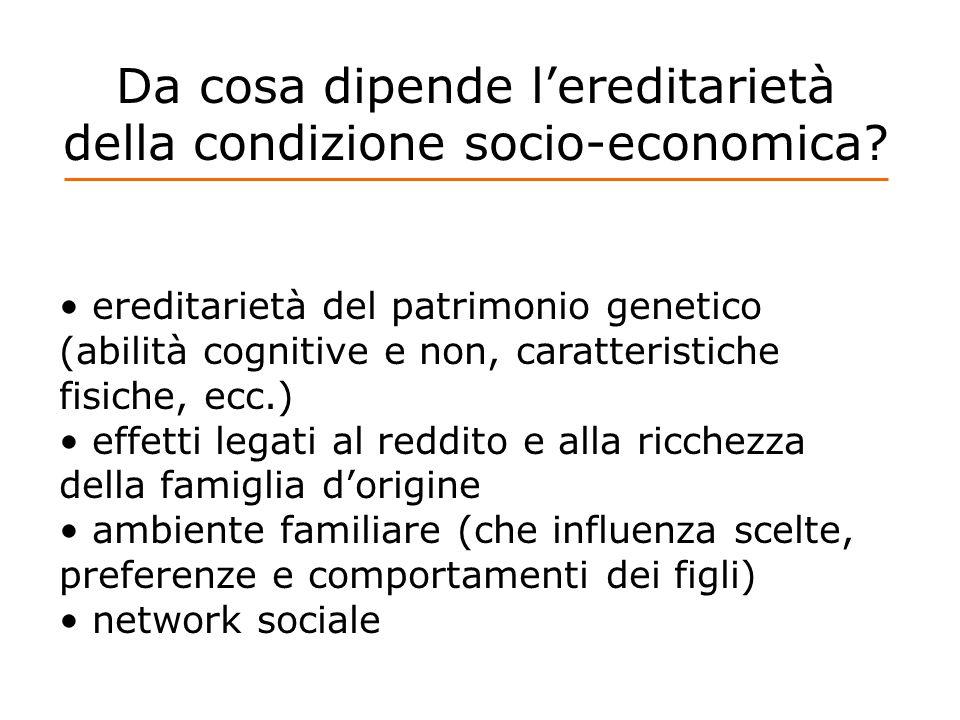 Da cosa dipende l'ereditarietà della condizione socio-economica