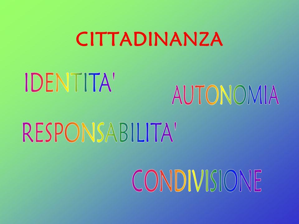 CITTADINANZA IDENTITA AUTONOMIA RESPONSABILITA CONDIVISIONE