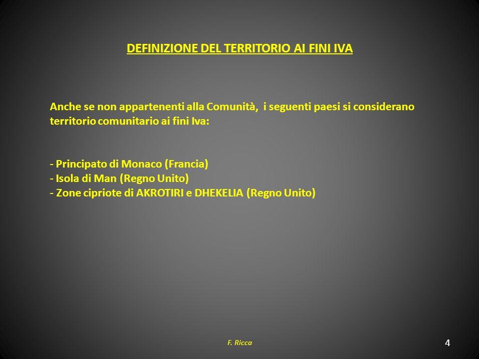DEFINIZIONE DEL TERRITORIO AI FINI IVA