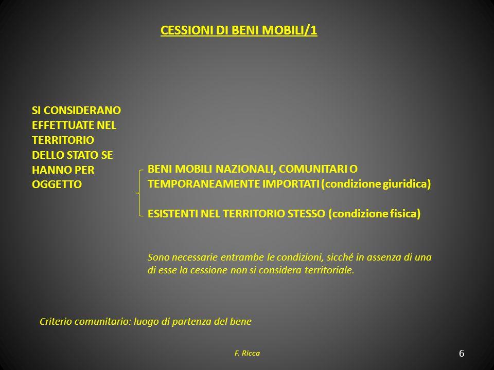 CESSIONI DI BENI MOBILI/1