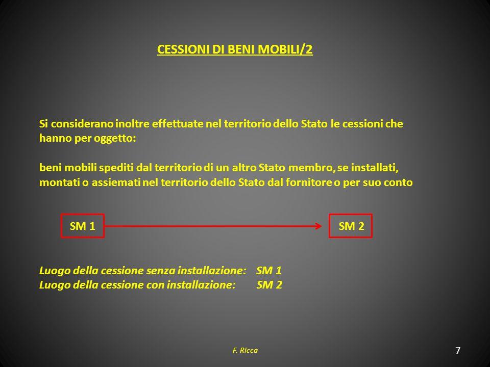 CESSIONI DI BENI MOBILI/2