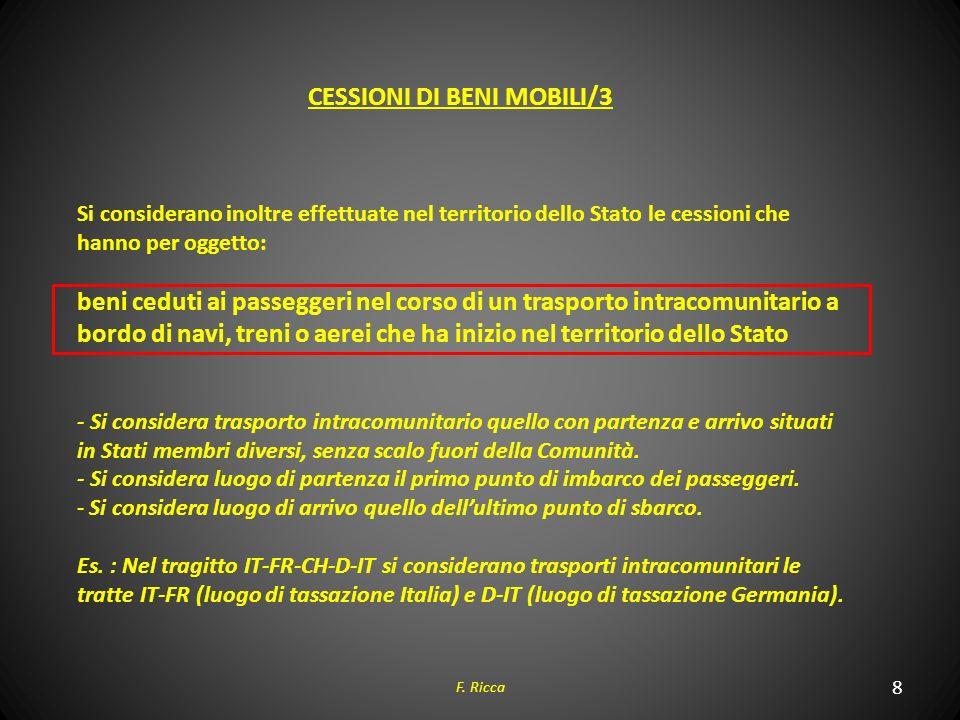 CESSIONI DI BENI MOBILI/3