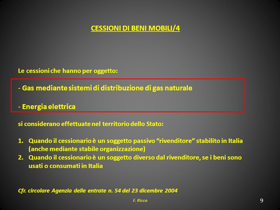 CESSIONI DI BENI MOBILI/4