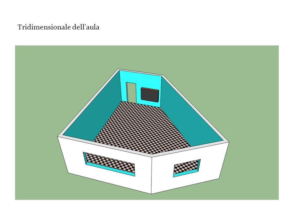 Tridimensionale dell'aula