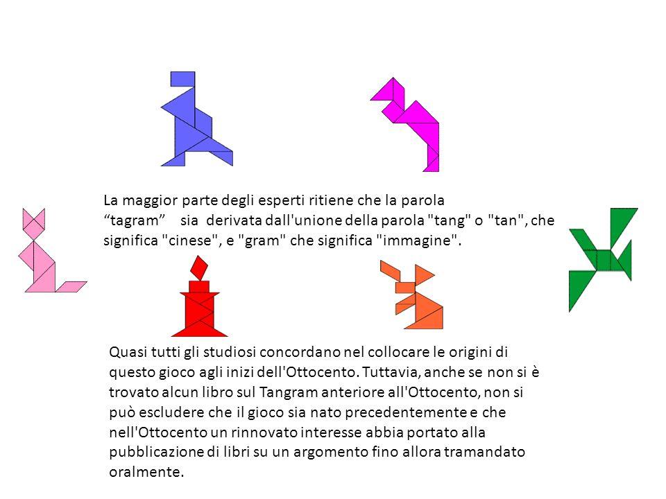 La maggior parte degli esperti ritiene che la parola tagram sia derivata dall unione della parola tang o tan , che significa cinese , e gram che significa immagine .
