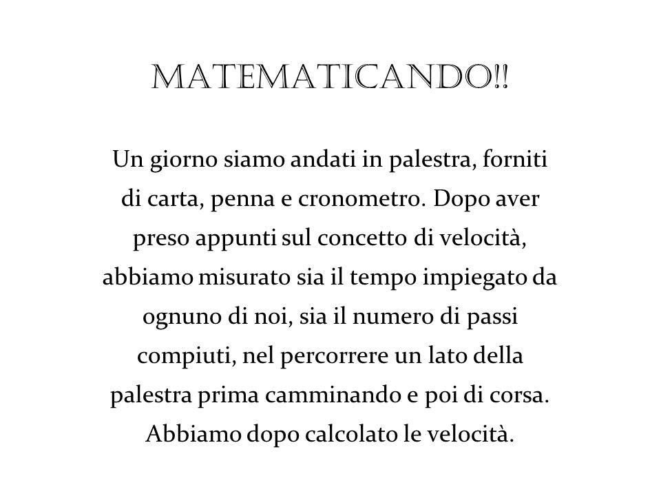 Matematicando!! Un giorno siamo andati in palestra, forniti