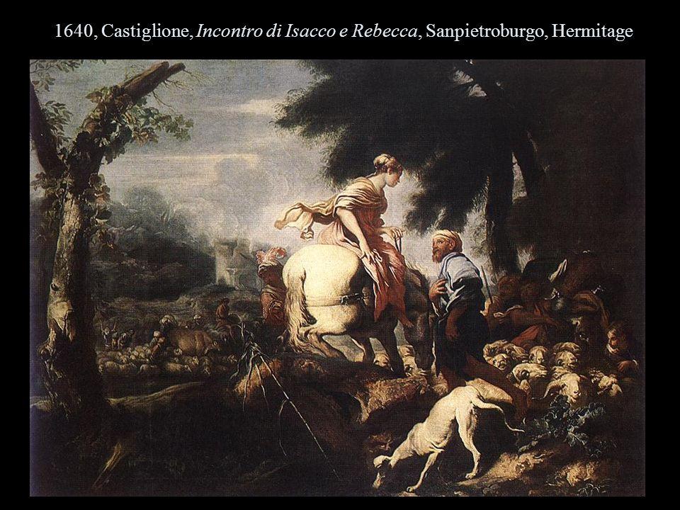 1640, Castiglione, Incontro di Isacco e Rebecca, Sanpietroburgo, Hermitage