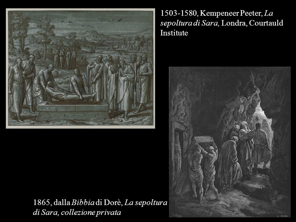 1503-1580, Kempeneer Peeter, La sepoltura di Sara, Londra, Courtauld Institute