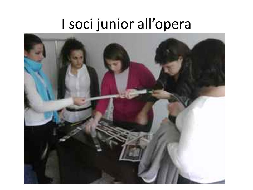 I soci junior all'opera
