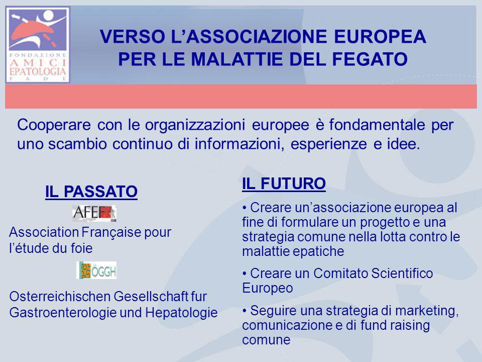 VERSO L'ASSOCIAZIONE EUROPEA PER LE MALATTIE DEL FEGATO
