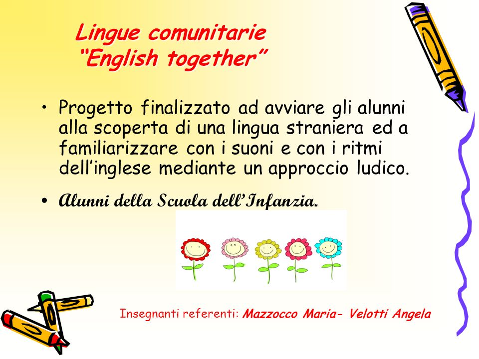 Lingue comunitarie English together
