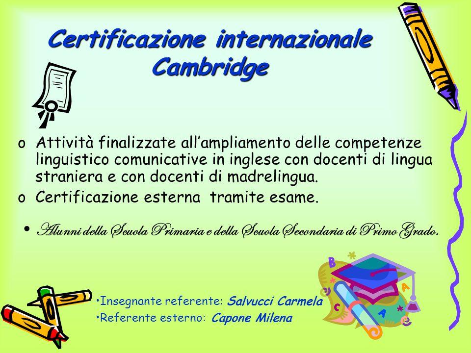 Certificazione internazionale Cambridge