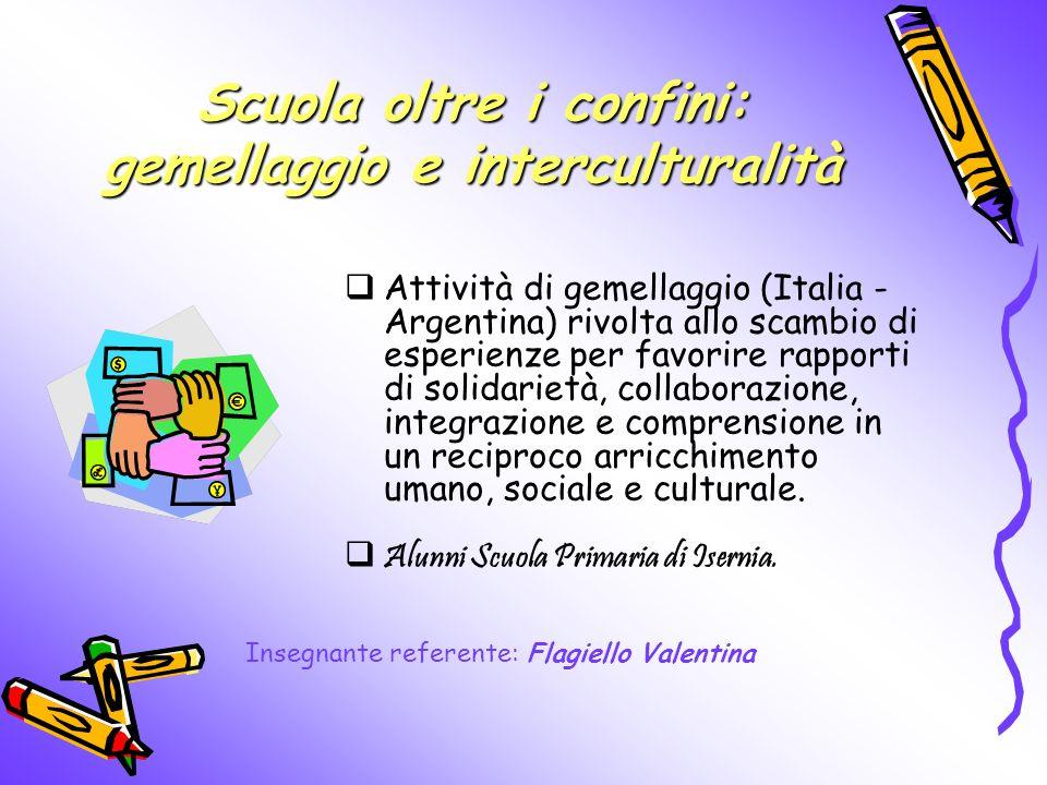 Scuola oltre i confini: gemellaggio e interculturalità