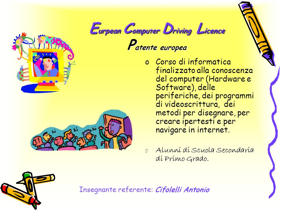 Eurpean Computer Driving Licence Patente europea