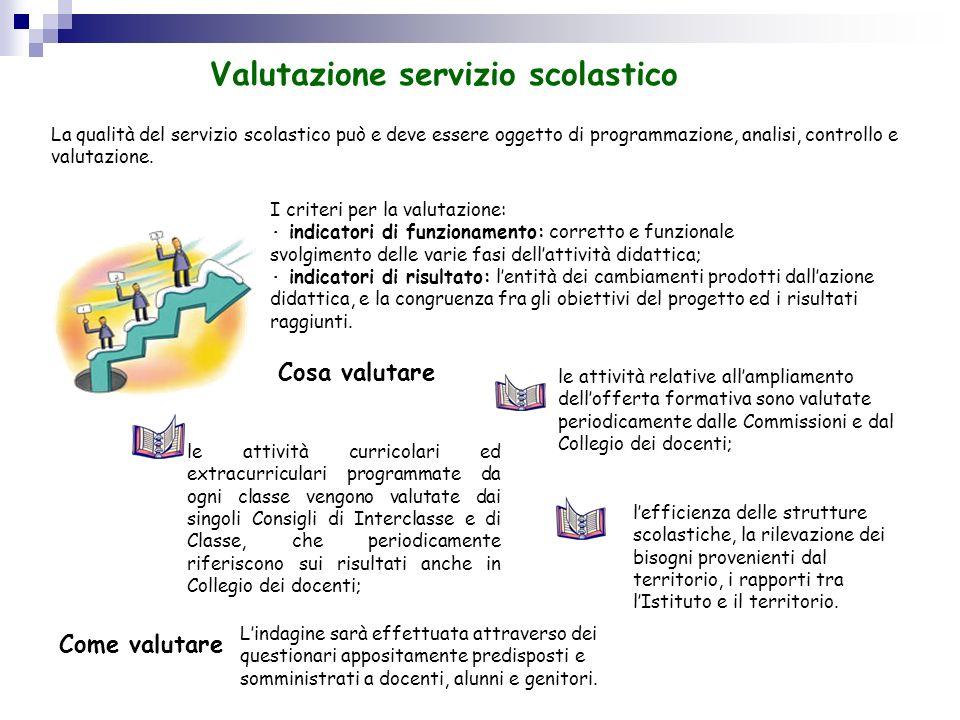 Valutazione servizio scolastico