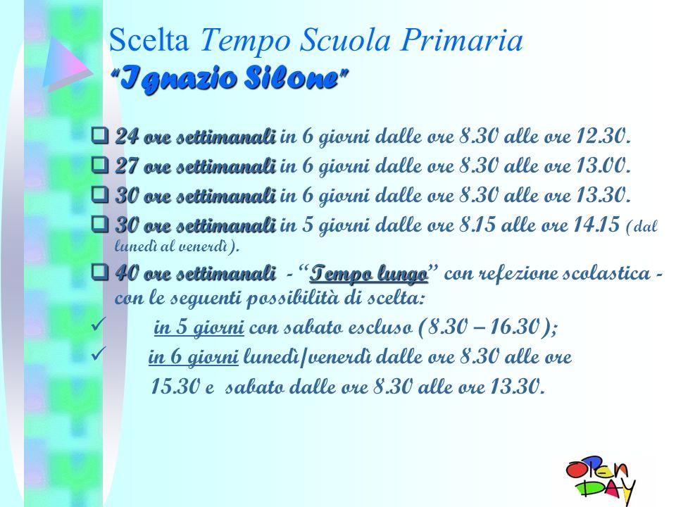 Scelta Tempo Scuola Primaria Ignazio Silone