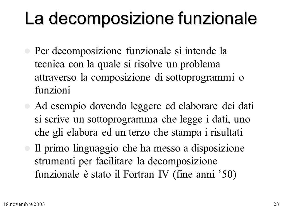 La decomposizione funzionale
