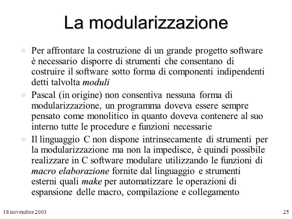 La modularizzazione