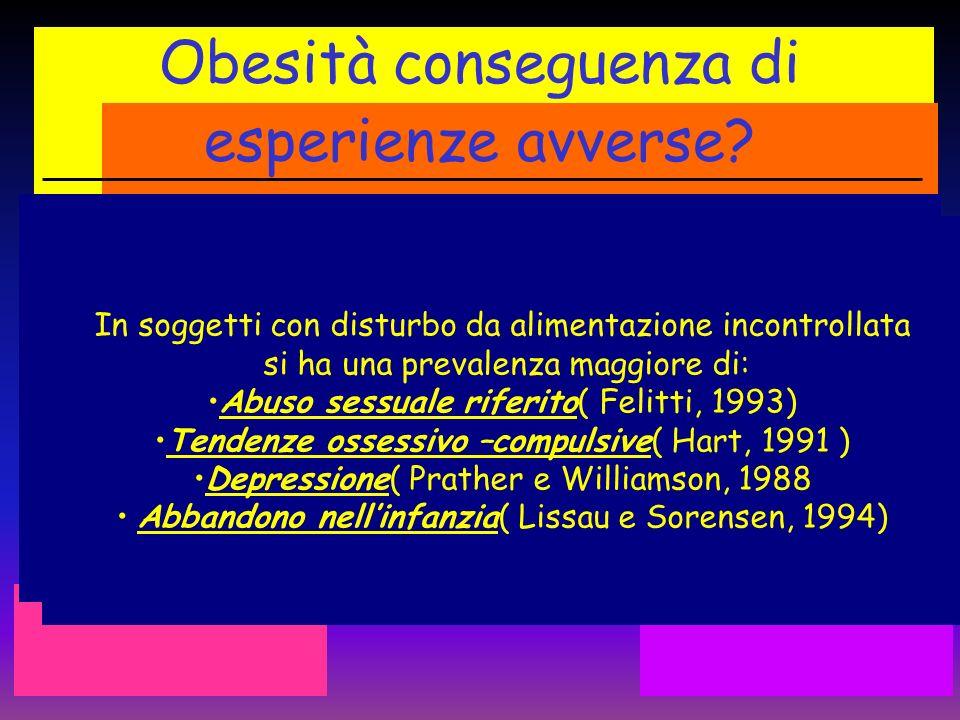 Obesità conseguenza di esperienze avverse